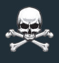 Pirates Jawless Skull and Bones