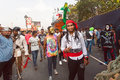 Pirates and other weird persons having fun on the traditional Goa carnival