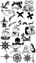Pirates silhouette collection Stock Photo
