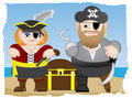 Pirates stand on beach Royalty Free Stock Photo