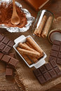 Pirouline Wafer Cookie Royalty Free Stock Photo