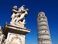 Pisa cathdral and famous tower tuscany italy Stock Photos