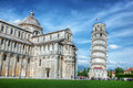 Pisa Cathedral with the Leaning Tower of Pisa, Tuscany, Italy Royalty Free Stock Photo