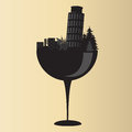 Pisa on glass wine design icon Stock Photos