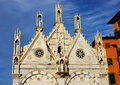 Pisa gothic church building detail of the in italy Royalty Free Stock Image