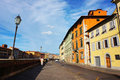 Pisa street view by the arno river in italy Royalty Free Stock Photography