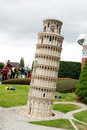 Pisa tower in Mini Europe park Royalty Free Stock Photo
