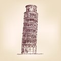 Pisa Tower vector illustration Royalty Free Stock Photography