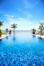 Piscina tropical Foto de Stock Royalty Free