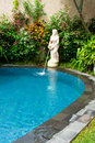 Piscine tropicale de Balinese Images stock