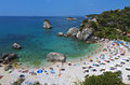 Piso kryoneri beach at parga greece near town of syvota area in Royalty Free Stock Photo