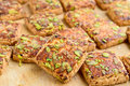 Pista biscuits made from flour sugar dried fruitand salt Royalty Free Stock Photos