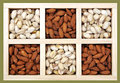 Pistachio and almond Stock Images