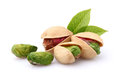 Pistachio with leaves Royalty Free Stock Photo