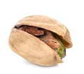 Pistachio nut tasty snack isolated on white background Royalty Free Stock Images