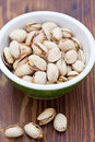 Pistachio nuts in a bowl Royalty Free Stock Photo