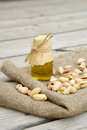 Pistachio nuts oil Royalty Free Stock Photo
