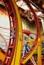 Pistas del roller coaster en la alameda del oeste de Edmonton Imágenes de archivo libres de regalías