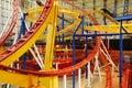 Pistas del roller coaster en la alameda del oeste de Edmonton Imagen de archivo
