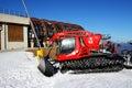 The Pisten Bully 600 groomer for ski slopes preparation Royalty Free Stock Photo