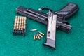Pistol ammo pack set Royalty Free Stock Photos