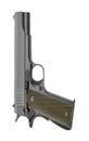 Pistol isolated on white Royalty Free Stock Photo