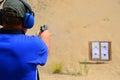 Pistol target practice with 45 auto