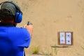 Pistol target practice