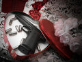 Pistol Valentine Royalty Free Stock Images