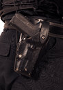 Pistola automática de Sauer 9mm dos Sig da polícia Foto de Stock Royalty Free