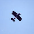 A piston engined biplane at the Karup airshow. Stock Image