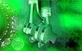 Pistoni che funzionano in motori Fotografia Stock