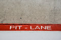 Pit Lane entrance in car competition Royalty Free Stock Photo