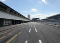 Pit lane in hockenheim middle of the at a racetrack named hockenheimring southern germany at summer time Stock Photo