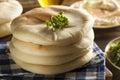 Pita bread orgânica caseiro Fotografia de Stock