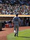 Pitcher Jonathan Papelbon walks towards the Dugout