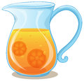 A pitcher of orange juice illustration on white background Royalty Free Stock Photography