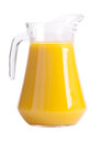 Pitcher of orange juice isolated on white Stock Photo
