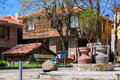 Pitchers in the ancient bulgarian town of sozopol street Royalty Free Stock Photo