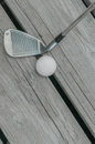 Pitching Wedge And Golf Ball Royalty Free Stock Photo