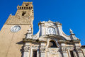 Pitigliano church -  Grosseto - Tuscany - italy Royalty Free Stock Photo