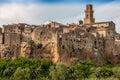 Pitigliano city on the cliff, Tuscany, Italy Royalty Free Stock Photo