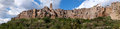 Pitigliano town medieval in italy panoramic image Stock Photo