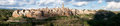 Pitigliano town medieval in italy panoramic image Royalty Free Stock Images
