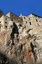 Pitigliano view from below, Tuscany, Italy Royalty Free Stock Photo