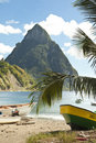 Piton and beach Royalty Free Stock Photos