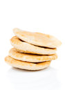 Pitta bread lebanese bread on white background Royalty Free Stock Photography
