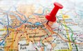 Pittsburgh closeup of a map of pennsylvania Royalty Free Stock Photos