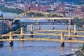 Pittsburgh pennsylvania city in the united states city view with bridges monongahela river Royalty Free Stock Image