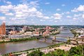 Pittsburgh pennsylvania city in the united states skyline with bridges monongahela river Stock Photography
